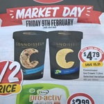 [NSW] Connoisseur Ice Cream 1L $4.79 @ IGA Market Day (9/2)