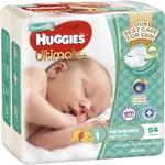 Huggies Ultimate Nappies Newborn 54pk $10 (save $6) @ Woolworths