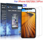 2x Genuine Nuglas iPhone X 8 7 6 6S Plus Tempered Glass Screen Protector from $3.95 Delivered @ oz_accessory eBay