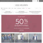 50% Off Sitewide @ Van Heusen (Free Shipping > $100, Otherwise $9.95)