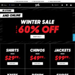 Up to 60% off Sale: Shirts $30 (Was $90) @ yd.