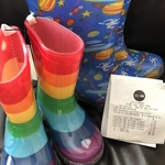 [NSW] Kids Light-up Gumboots - Rainbow $2 & Space $1 (Was $15) @ Big W Menai