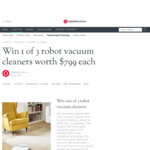 Win 1 of 3 Ecovacs Deebot 900 Robotic Vacuums Worth $799 from realestate.com.au Pty Ltd
