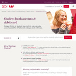Westpac - Get $50 Cash When You Open a Westpac Choice Student Account