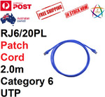 Clipsal Cat.6 Ethernet Patch Cable 2m Blue $6.90 @ AHZ Electronics eBay