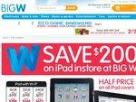 iPads All $200 off at BigW. Plus Half Price iPad Covers