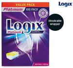 Logix Platinum Dishwashing Tablets (Dissolvable Wrapper) 100 Pack $14.99 @ ALDI