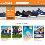 $59 Nike and ASICS Shoes (in Store Only) @ Anaconda (Adventure Club Membership Required)