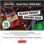 Jacks Link's Beef Jerky 50gr Half Price $2.27 @ Woolworths [Online Only]