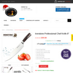 """Buy 1 Get 1 Free - IRONSTONE Professional Chef Knife 8"""" - (Price $59) + Shipping @ The Perfect Steak Co"""