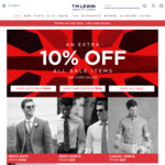 Extra 10% Off On All Sale Items @ T.M.Lewin