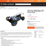 HSP 94107-106MA2 Black 2.4Ghz Electric 4WD Off Road RTR 1/10 Scale RC Buggy $138 + Freight @ HobbyWarehouse