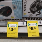 [QLD] Paperclick Alarm Radio Clock $3.75 (Expired), USB Desktop Fan $5.40 @ Woolworths (Margate)