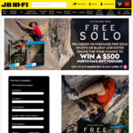 Win a $500 North Face Voucher with Purchase of Free Solo from JB Hi-Fi