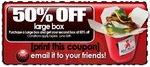 Purchase a Large Box and Get The Second 50% at Red Rock Noodle Bar (QLD)