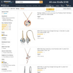 Swarovski Crystals Jewellery - Earrings $14.95, Necklace $9.95 + Post ($0 with Prime/ $49 Spend) & More @ Mestige Amazon AU