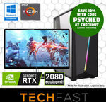 "R5 2600 / RTX 2080 8GB / 240GB / 16GB / B350 / 27"" AOC Monitor + 2 Games: $1599.30 / PC Only $1464.30 Delivered @ TechFast eBay"