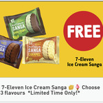 Free - Ice Cream Sanga @ 7-Eleven via Fuel App