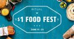 [NSW] $1 Food Fest, Various Food and Drink $1 in North Sydney with Ritual App