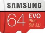 Samsung 64GB EVO Plus Micro SDXC Memory Card $18 @ The Good Guys