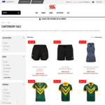 50% off + 10% off Newsletter Signup + Free Shipping on Orders $100+ @ Canterbury Australia