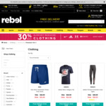 Further 30% off Already Reduced Clothing @ rebel (adidas, Nike, under Armour & More)