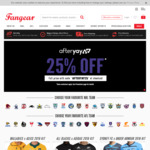 25% off NRL, AFL, Rugby, Cricket and Soccer Styles @ Fangear, Plus Cashrewards + ShopBack