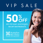 [VIC] 50% off Laser Hair Removal & Skin Treatment Packages @ Australian Skin Clinics (Fountain Gate)