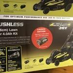 """New Model Ryobi 36V 5.0Ah-Launch Edition- 18"""" Brushless Mower Kit $499 @ Bunnings"""