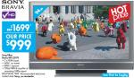 Kmart - Sony 37in/94cm BRAVIA LCD $1699 TV for $899 after $100 cashback