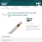 [Price Error] 2.5mm Olex Twin & Earth TPS Electrical Cable (AU Made, Was $110) $66.50 @ Bunnings (PowerPass Membership Required)