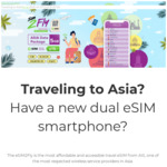 20% off AIS eSIM2Fly Reloadable E-Sim Plan, 6GB for 8 Days for Select Asian Countries $15.20 USD / $22.60 AUD @ eSIM2Fly