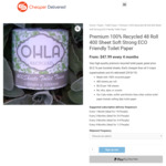 [Backorder] 100% Recycled Toilet Paper 48 Rolls of 400 Sheets for $48 Delivered & More @ Cheaper Delivered
