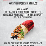 Mad Mex Free Delivery on Menulog