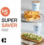 Bacon & Egg Flat Grill or Mini Smashed Avo for $5 When You Buy a Hot Drink @ Coffee Club