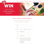 Win 1 of 3 Simply Impressive Recipe Boxes Worth $240 from Luv-a-Duck Pty Ltd