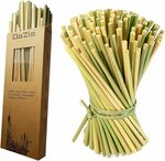 Organic Grass Straws (Reusable/Disposable) 50pk (20cm) $9.99 + Delivery ($0 with Prime/ $39 Spend)