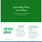 Trial eBay Plus for Instant $20 Voucher or Join eBay Plus for $50 Voucher ($49/Year)