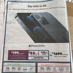 iPhone 12 Pro 128GB $799 Upfront on Optus 150GB $85/Mth Sim-only Plan (24 Months) @ Harvey Norman