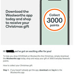 Bonus 3000 Points When You Download App & Shop by 9/12/20 @ Woolworths Everyday Rewards