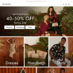 40-50% off Entire Site @ GUESS