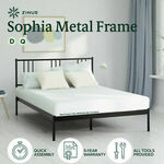 Zinus Sophia Metal Bed Frame Q $189, D $179 + Delivery ($0 to Most Metro Areas) & More @ Zinus eBay