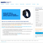 Win an Apple Watch Series 6 Worth $599 from Hays