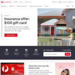 Bonus $100 Gift Card with a Comprehensive Car Insurance or Combined Home & Contents Insurance @ Australia Post