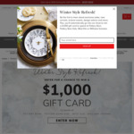 Win a $1000 Gift Card from Williams Sonoma