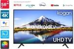 "[Kogan First] Kogan 58"" 4K UHD HDR LED Smart TV Android TV $429 + Shipping @ Kogan"
