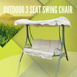 3 Seat Outdoor Swing Chair Canopy Hanging Steel Frame W/ Cushion $131.93 + Delivery @ Gosuperspecial eBay