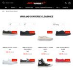 Vans/Converses Shoes $24.99 - $69.99 (Was $120) + $10 Shipping (Free over $150) @ Just Sport