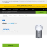 Dyson Pure Cool Me Personal Purifying Fan $324 (RRP $499) Delivered @ Dyson / Pick up @ The Good Guys