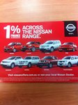 Nissan Vehicles Only - Cheap 1% Finance